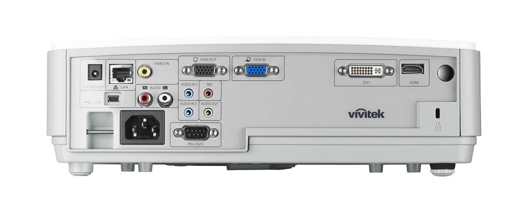 Vivitek D855ST IO Ports MediumRes