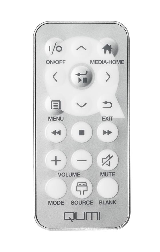 Qumi Q6 Remote Control