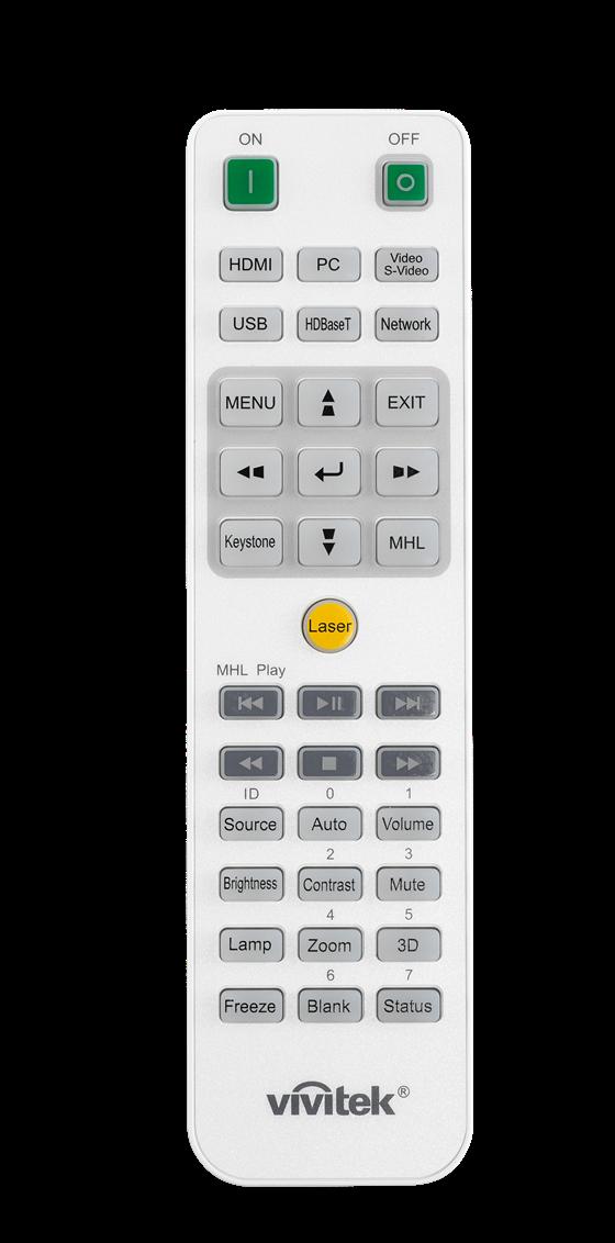 Vivitek DW4650Z Remote Control