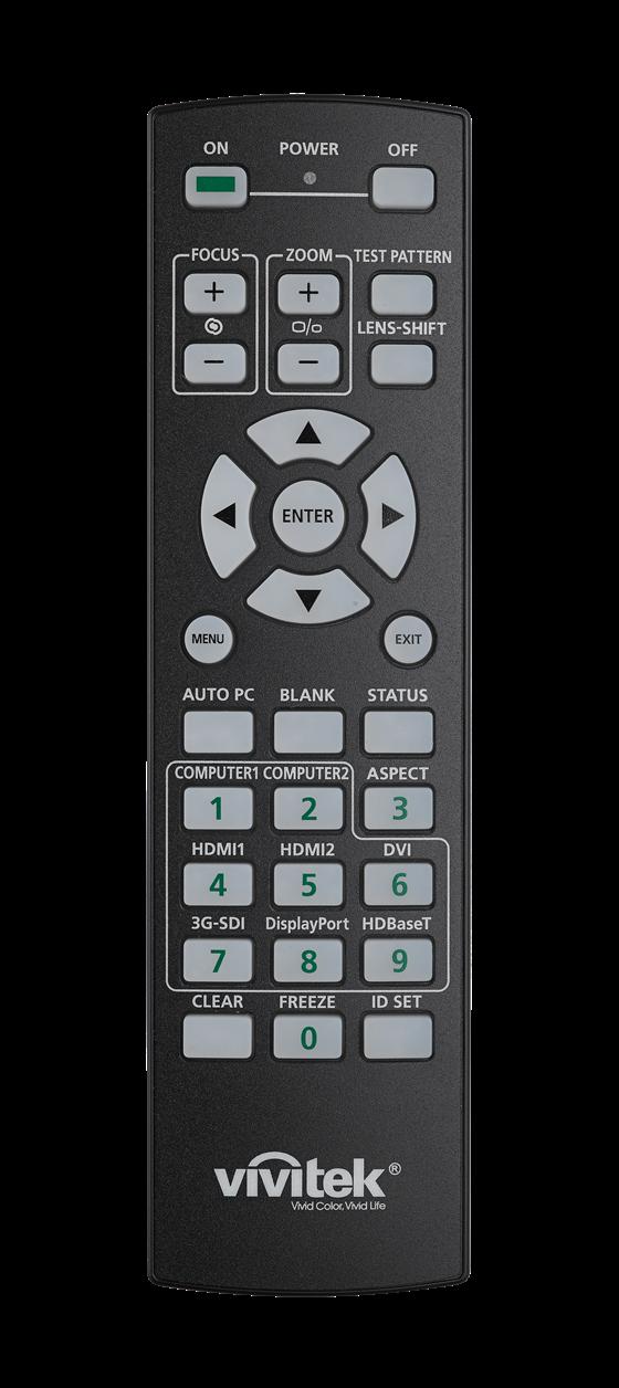 Vivitek DK8500Z Remote Lights Off