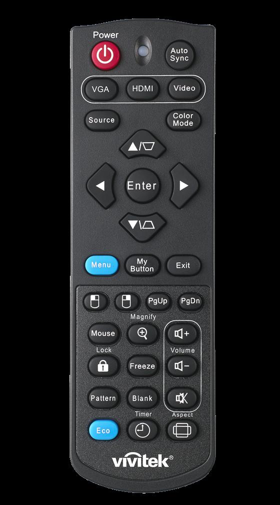Vivitek D200 Series Remote Control
