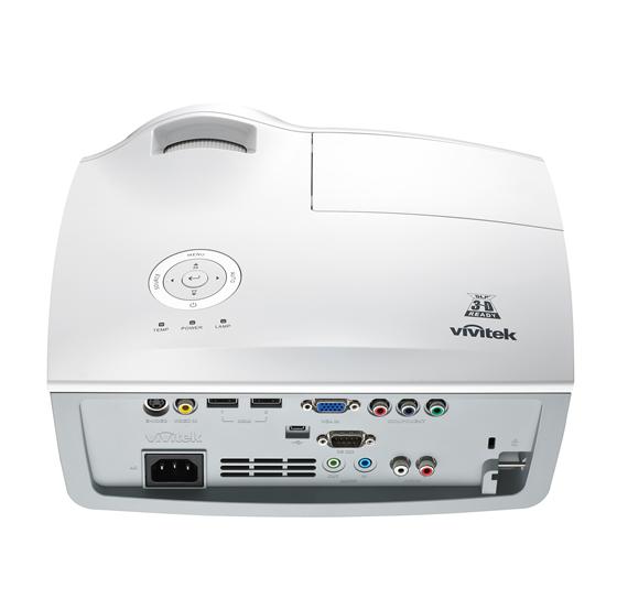 Vivitek D865W BackTop