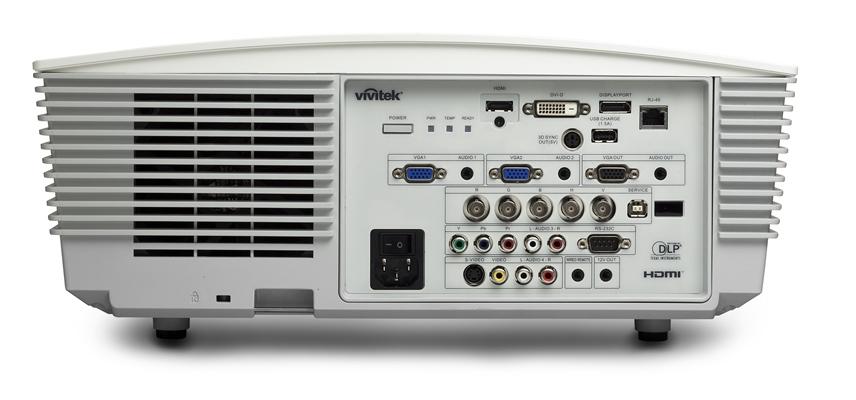 Vivitek D5010 White IO Ports HiRes